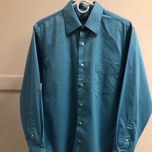 Men's Arrow Fitted Dress Shirt Light Blue